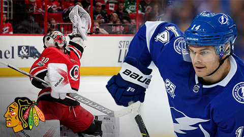 Cam Ward a Chris Kunitz (foto © Gregg Forwerck a Scott Audette/NHLI via Getty Images)